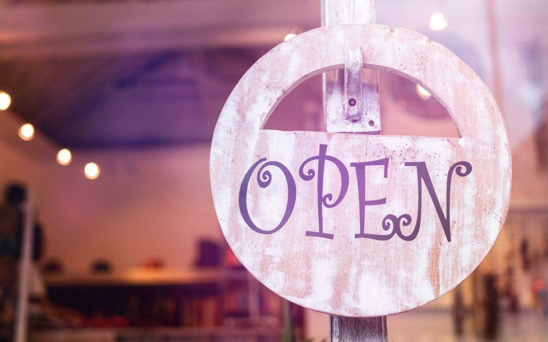 Weer open? Werk je info bij!
